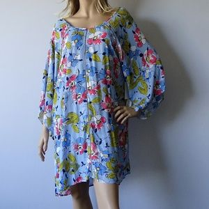 Anne Cole NWT Brigitte Floral Cover Up